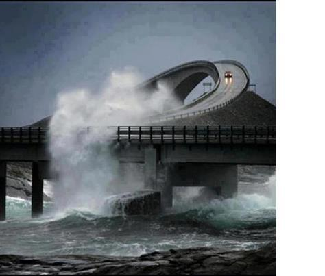 Bridge with high water mayb1e Norway